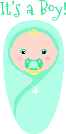 swaddling: Planning a baby shower will not be complete without this adorable design.  Add it to your favorite items for party favors.  They will love it! Illustration