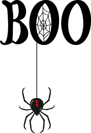 black widow: Decorate for Halloween with scary spider.