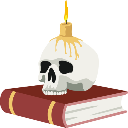 Decorate for Halloween with scary book.