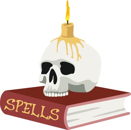 무서운 책을 할로윈에 장식하십시오.