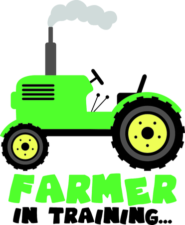 Add this tractor image to your next design.