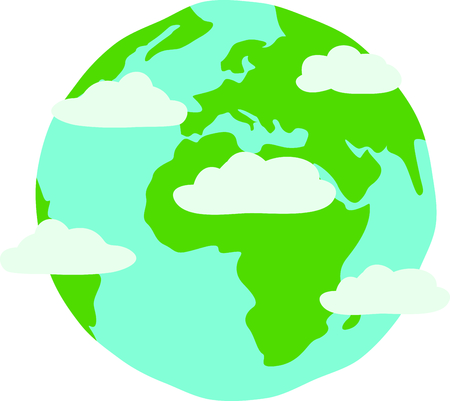 Celebrate earth day, every day with a colorful globe.