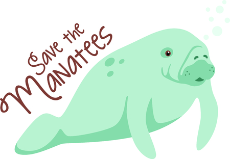 manatee: A beach tote will look great with a manatee design.