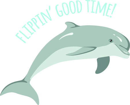 cetacean: A beach tote will look great with a Dolphin design. Illustration