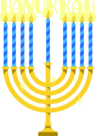 Celebrate Hanukkah with this Menorah with candles.