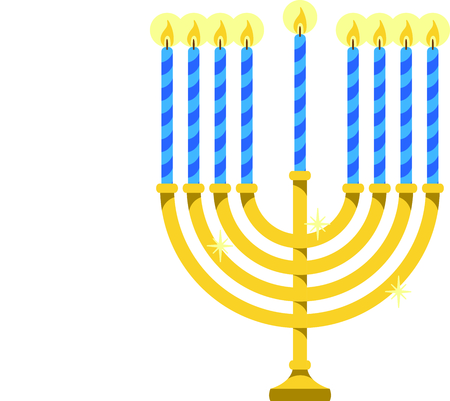 candelabrum: Celebrate Hanukkah with this Menorah with candles.