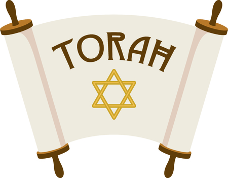 Celebrate your faith with these open Torah scrolls.