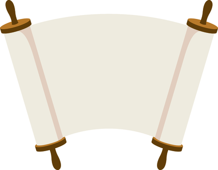 torah: Celebrate your faith with these open Torah scrolls.