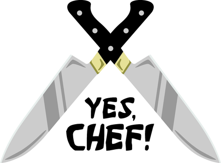 The perfect image for a gift to a chef in training.  They will love it.