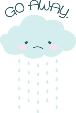 unwelcome: Rain, rain go away, come again another day.
