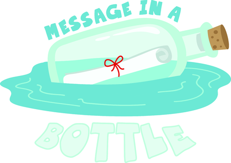 message in the bottle: A message in a bottle is a neat way to say I love you.