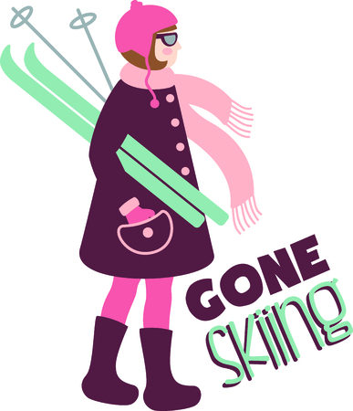 admirer: This girl skier is great for the winter sports admirer.
