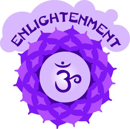sahasrara: Chakra lotus for Hindu religious sayings and symbols.