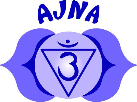 simbolos religiosos: Chakra triángulo de dichos y símbolos religiosos hindúes. Vectores