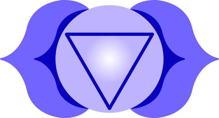 힌두교 종교 명언 및 기호 차크라 삼각형. 스톡 콘텐츠 - 43752951