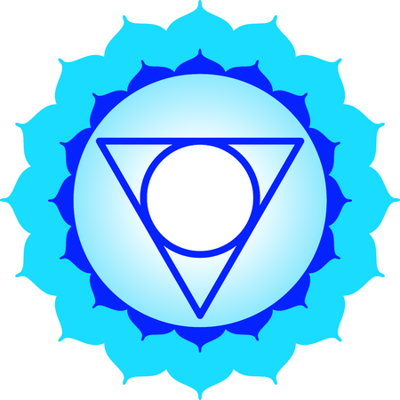 sanskrit: Chakra triangle for Hindu religious sayings and symbols.