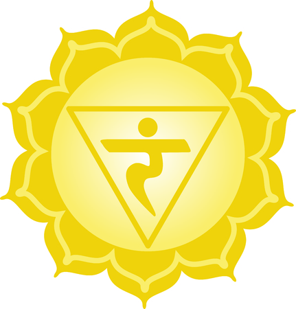 chakra: Chakra triangle for Hindu religious sayings and symbols.
