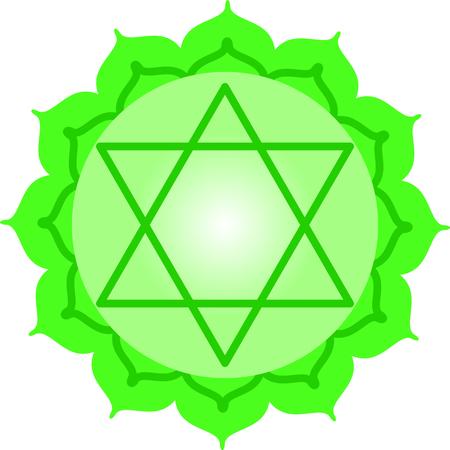 Chakra star for Hindu religious sayings and symbols. Illustration