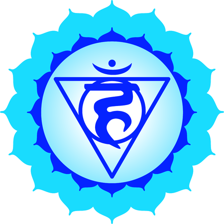 vishuddha: Chakra triangle for Hindu religious sayings and symbols.