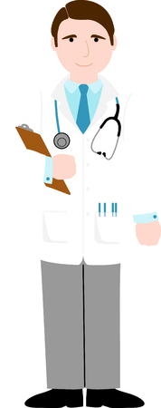 smock: Use this image of a doctor in your next design.
