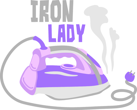 This iron is the perfect image for your next design.