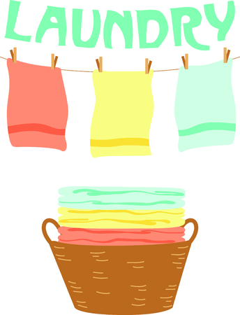This clothes line is the perfect image for your next design. Ilustracja
