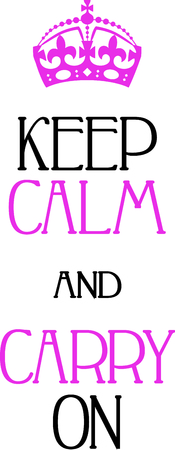 Use this special keep calm and carry on image on your next design. 向量圖像