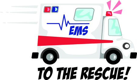 ems: Use this image of an ambulance in your next design.