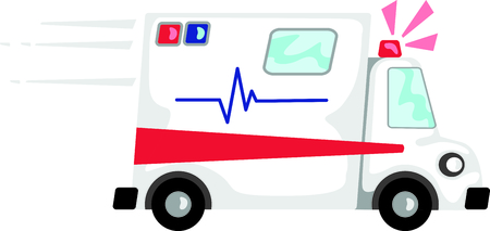 Use this image of an ambulance in your next design.