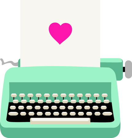 Use this image of a typewriter in your next design. 일러스트
