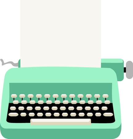 Use this image of a typewriter in your next design. Illustration