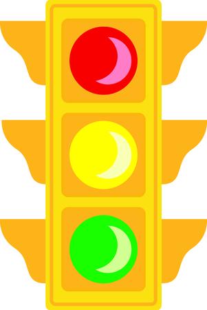 다음 디자인에서 신호등의 이미지를 사용하십시오. 스톡 콘텐츠 - 43870171
