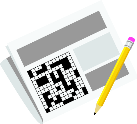 Use this image of a crossword puzzle in your next design.
