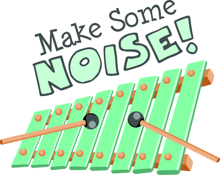 vibes: Kids like playing the xylophone.  Use this image to inspire the music.