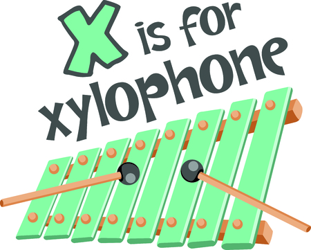 Kids like playing the xylophone.  Use this image to inspire the music.