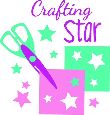 knutsel spullen: An art teacher looks for kids that color outside the lines.  A perfect gift to thank an art teacher for inspiring them. Stock Illustratie
