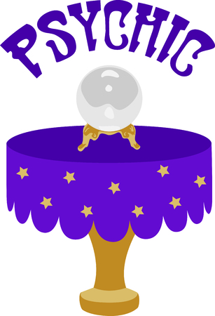 The crystal ball is the perfect design for a Halloween party. Illustration