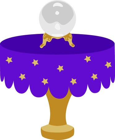 Die Kristallkugel ist der perfekte Entwurf für eine Halloween-Party. Standard-Bild - 43896205