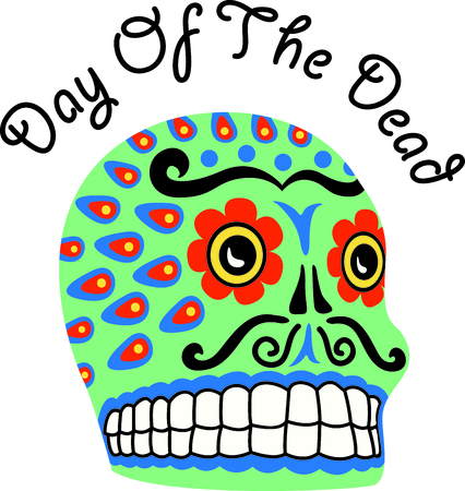 all souls day: The skull is the perfect design for a Halloween party.