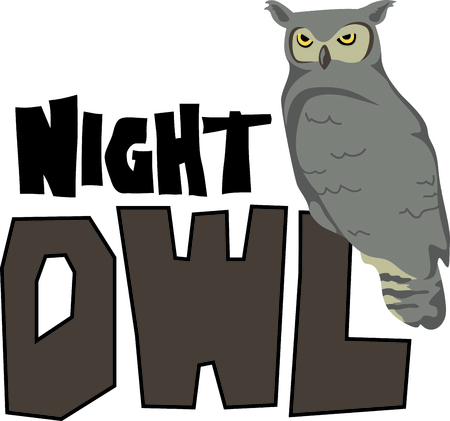 The night owl is the perfect design for a Halloween party.
