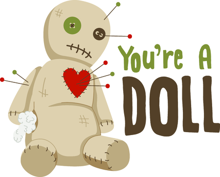 Voodoo doll: Heres a little voodoo magic for your Halloween party.
