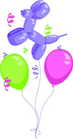 これらの風船は、あなたの次の誕生日のパーティーの完璧なイメージです。  イラスト・ベクター素材