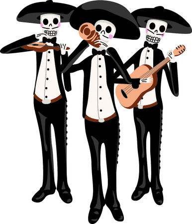The walking skeletons are the perfect design for a Halloween party.