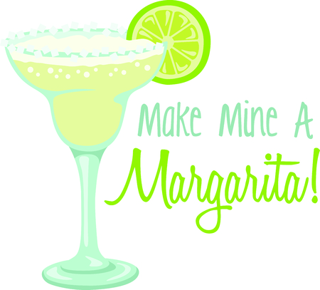 margarita: Margarita is the perfect combination for group relaxation!  Give this to your friends and go out in style.  They will love it for happy hour! Illustration