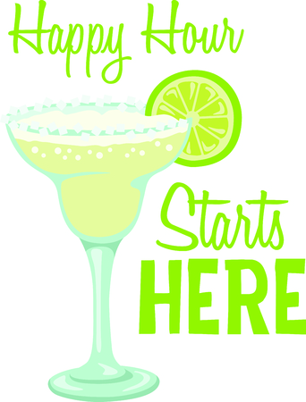 go out: Margarita is the perfect combination for group relaxation!  Give this to your friends and go out in style.  They will love it for happy hour! Illustration