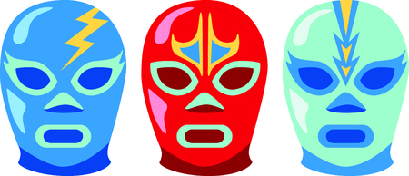Lucha Libre are the perfect combination for group relaxation!  Give this to your friends and go out in style.  They will love it for happy hour! Ilustração