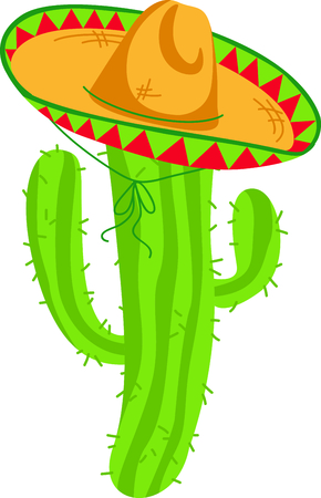 Cactus sombrero is the perfect image for your next fiesta.