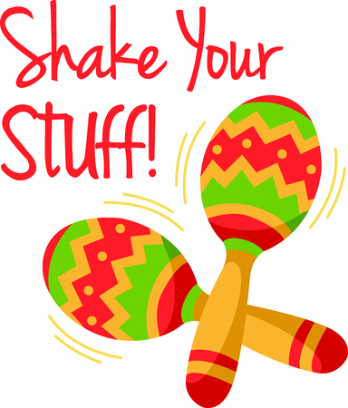 5th: The maracas is the perfect image for your next fiesta.