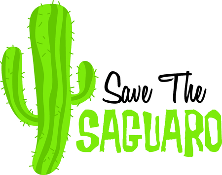 The Saguaro is the perfect image for your next fiesta. Ilustração