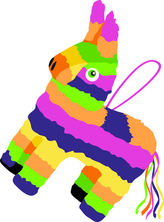 pinata: The pinata is the perfect image for your next fiesta. Illustration